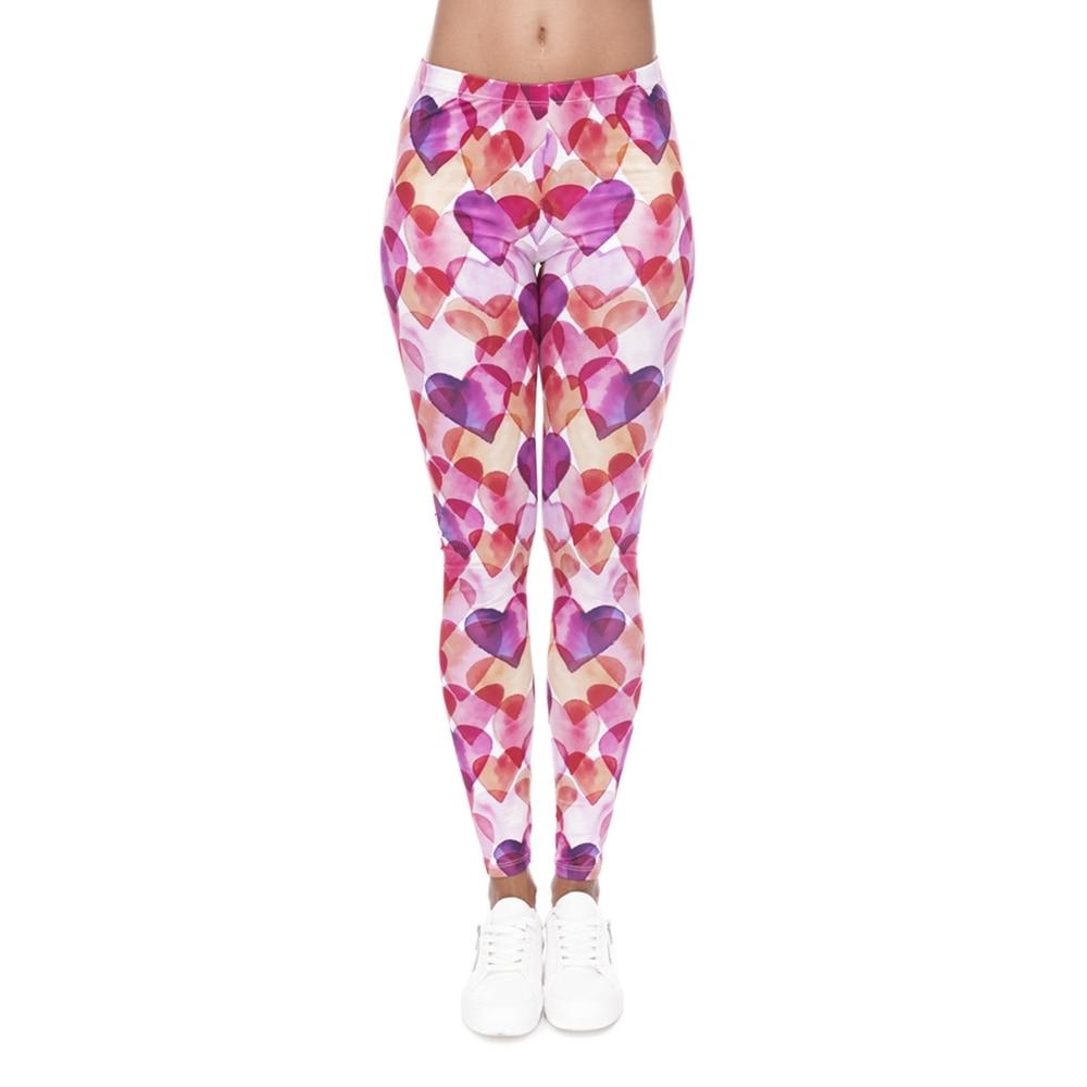 Hot Sale Women  Leggings Leggings 3D Print Love Hearts -2314
