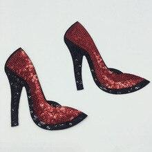 Туфли на высоком каблуке; нашивки с аппликацией; нашивки с блестками для девочек; женские сумки для одежды; домашний текстиль; 1 пара
