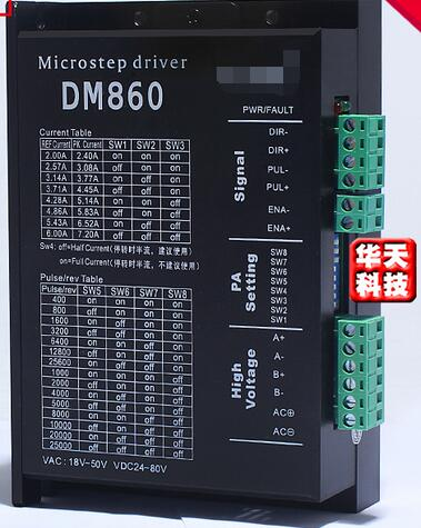 57 86 Stepper Motor DM860 Driver AC / DC Universal Replacement MA860H Driver57 86 Stepper Motor DM860 Driver AC / DC Universal Replacement MA860H Driver