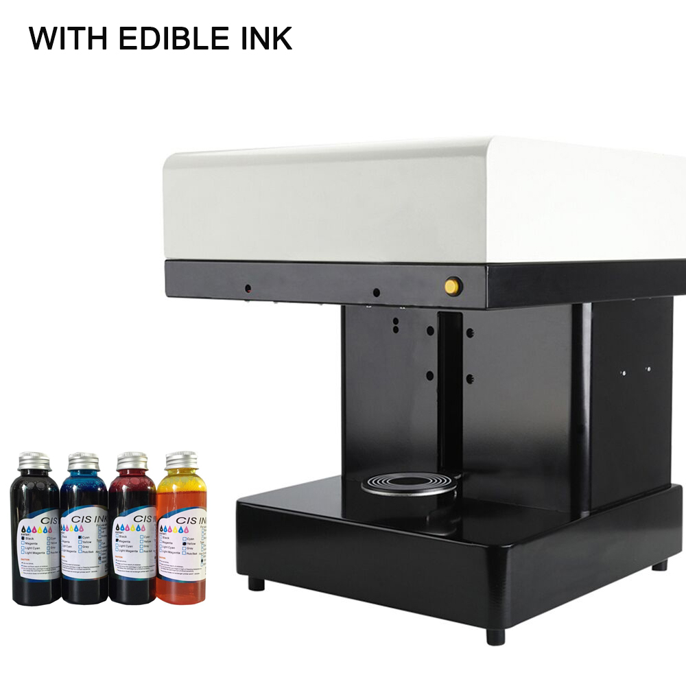 Edible ink printer Art Beverages Coffee Printer coffee Food and Beverage Printing Machine with 4colors*100ml edible ink new style edible ink printer art beverages coffee printer coffee food printer coffee pull flower selfie coffee printer