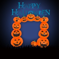 1.2m Inflatable Halloween Pumpkins Arch for Halloween Festival Decoration