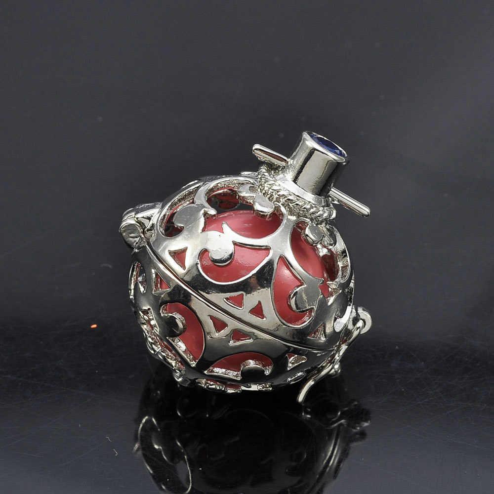 1pc Hollow Cage Filigree Ball กล่อง Diffuser สร้อยคอ Locket จี้สำหรับ DIY น้ำหอมน้ำมันหอมระเหยผลการค้นหาเครื่องประดับ