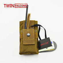 TWINFALCONS MOLLE Radio Pouch CORDURA Modular Combat Hunting Camping Climb Tactical Hike Outdoor P003