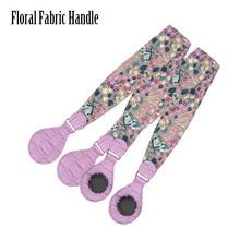 2019 New 1 Pair Soft Floral Fabric Handle with Patchwork Drop End for Bag O Bag Handles for EVA Obag Handbag Womens Bags