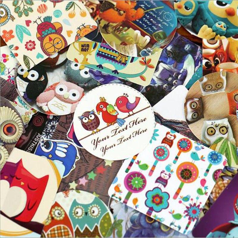 Купить с кэшбэком 46 pcs/lot Creative Cute Owls Paper Sticker Decoration DIY Ablum Diary Scrapbooking Label Sticker Kawaii Stationery