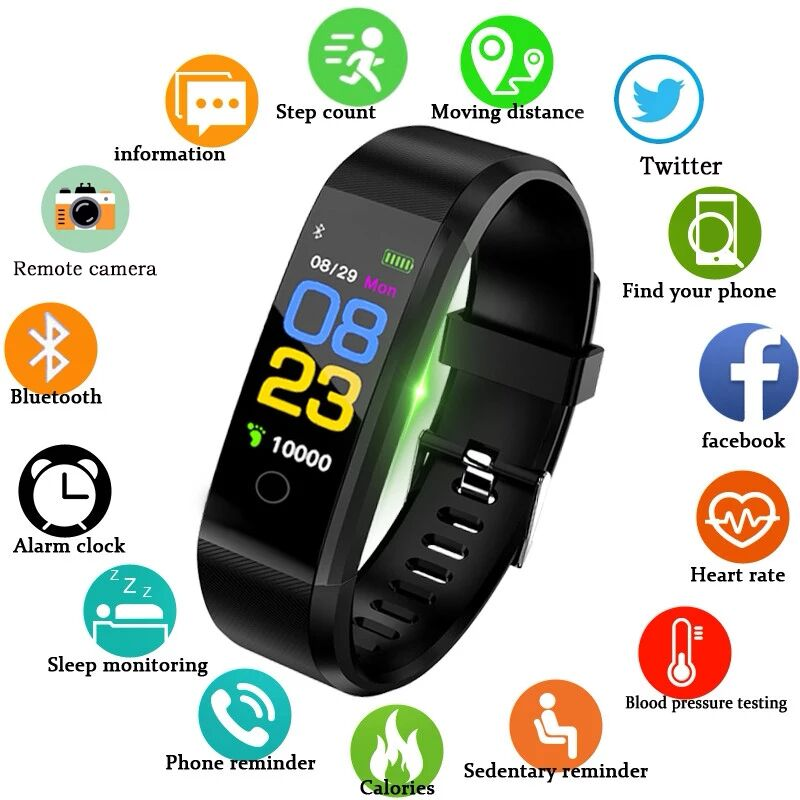 Watches Trustful 115plus Smartwatch Waterproof Sports Pedometer Heart Rate Monitor Bluetooth Smart Band For Dropshipping