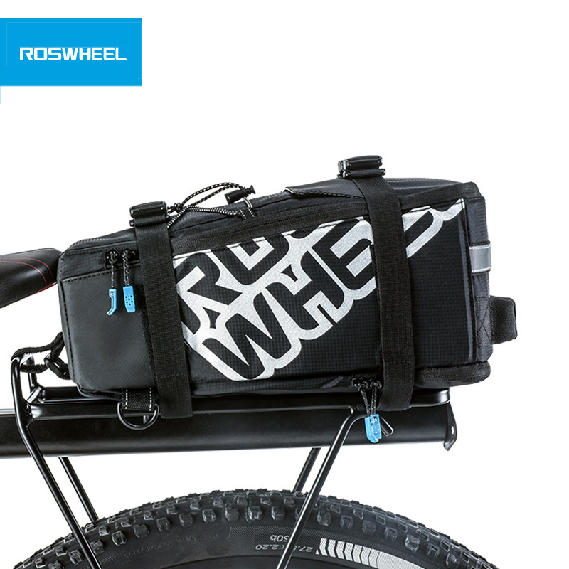 ROSWHEEL 5L Bicycle Carrier Bag Rack Trunk Bike Luggage Back Seat Pannier Outdoor Cycling Storage Kabelka Ramenní pás 141276
