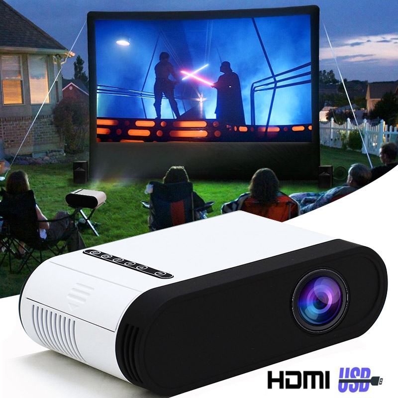 GC20 projecteur LED 500 lumen 3.5mm Audio 320x240 Pixels GC20 HDMI USB Mini projecteur maison lecteur multimédia Portable