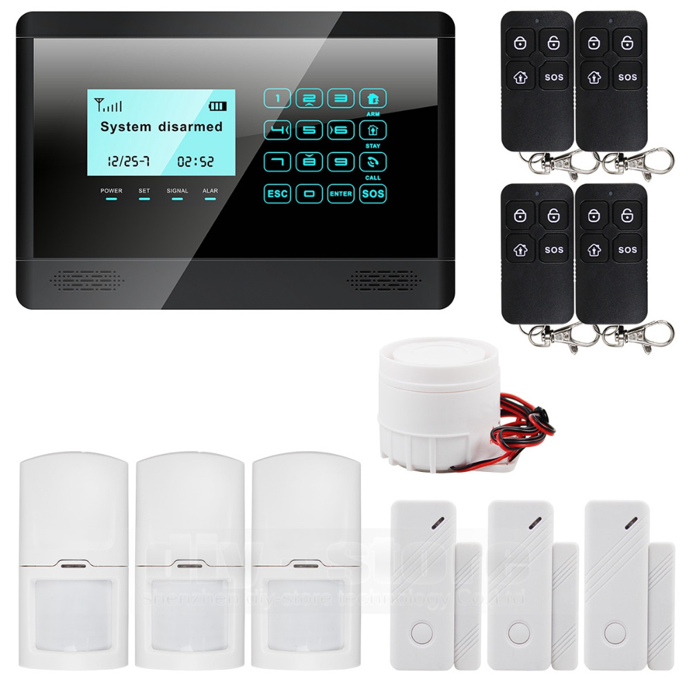 DIYSECUR Wireless Wired GSM SMS Home House Security Inturder font b Alarm b font System Siren