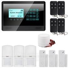 DIYSECUR Wireless& Wired GSM SMS Home House Security Inturder Alarm System Siren Door Sensor PIR Remote Controller