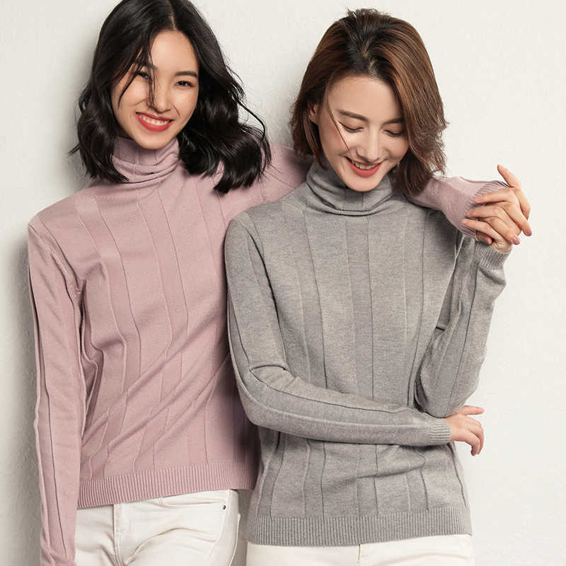new sweater women turtleneck Cashmere sweater pullover women knitted sweater Slim fit winter clothes women Large size sweaters