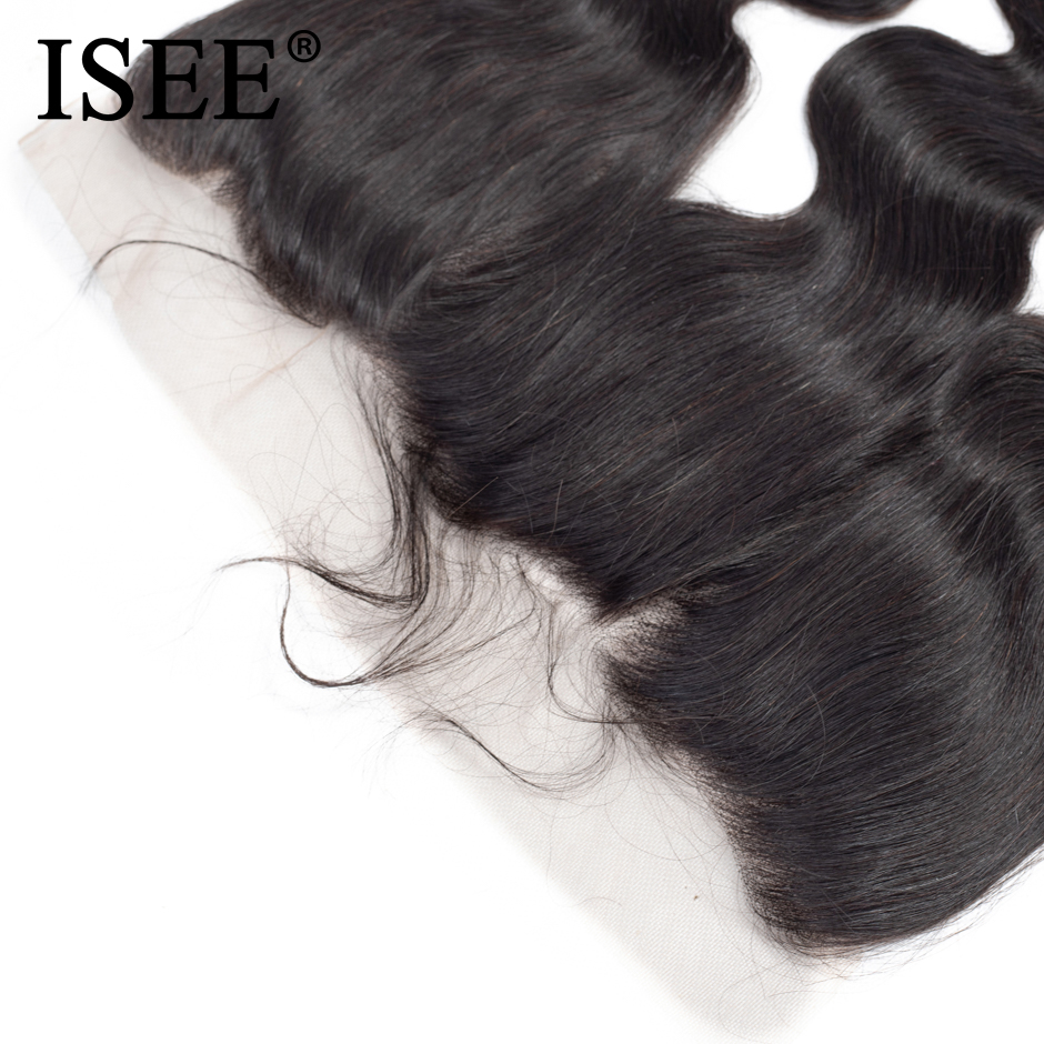 ISEE HAIR Brazilian Body Wave Lace Frontal Closure 13*4 Swiss Lace - Human Hair (For Black) - Photo 6
