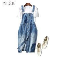 Denim Cotton Patchwork High Waist Women Jeans Dress Spaghetti Strap Midi Dress Spring Autumn Womens Dresses