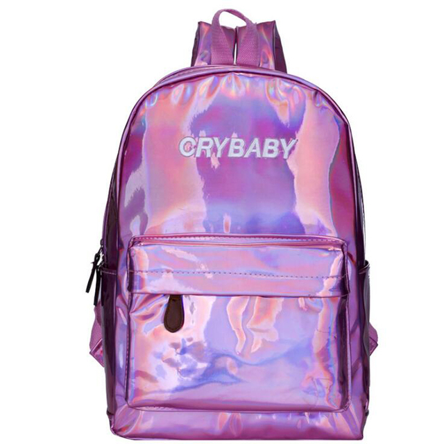 86a63810bf US $13.1 26% OFF|Mini Travel Bags Silver Blue Pink Laser Backpack Women  Girls Bag PU Leather Holographic Backpack School Bags for Teenage Girls-in  ...