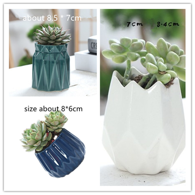 Creative Concrete Pot Silicone Molds Gardening Cement Desktop Cement Planter Mould For Cactus Succulents Plants Vase Mold