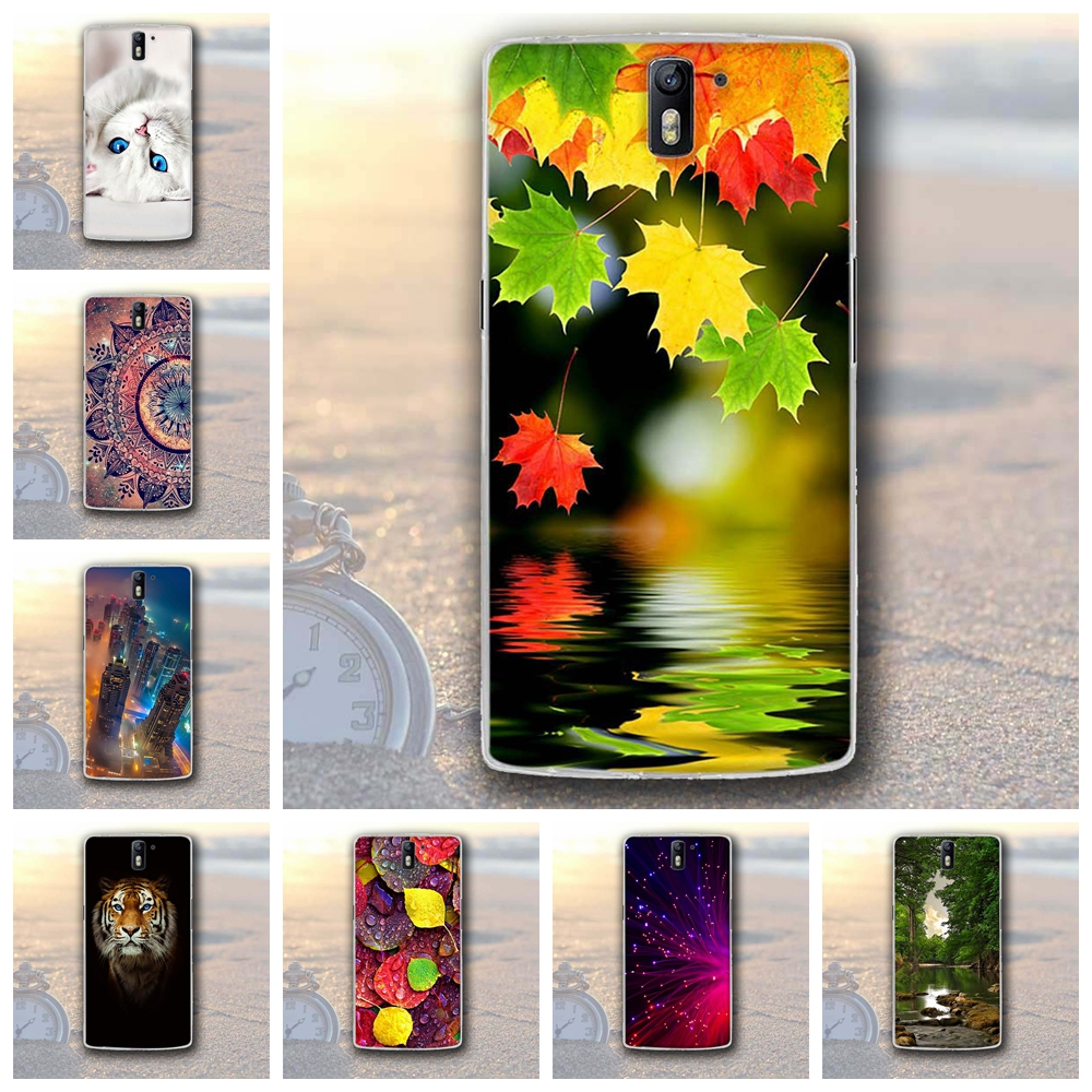 New Case for OnePlus One OnePlus 1 Cover Landscape Painting Case for OnePlus 1 Fundas Bag for OnePlus One 1+1 One Plus One