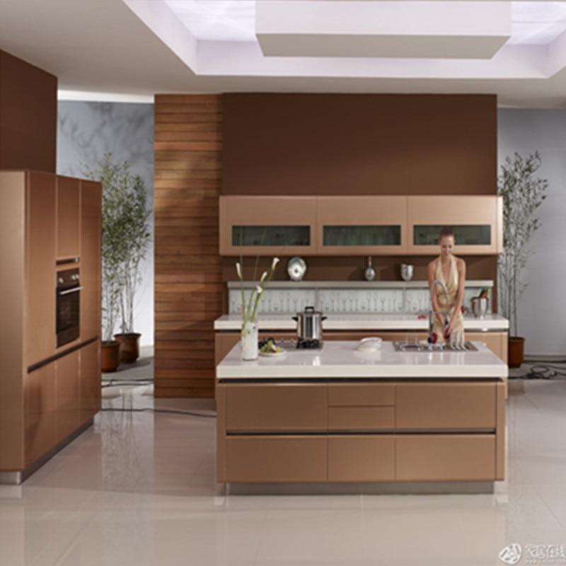 modern design melamine kitchen cabinet-in Kitchen Cabinets ...