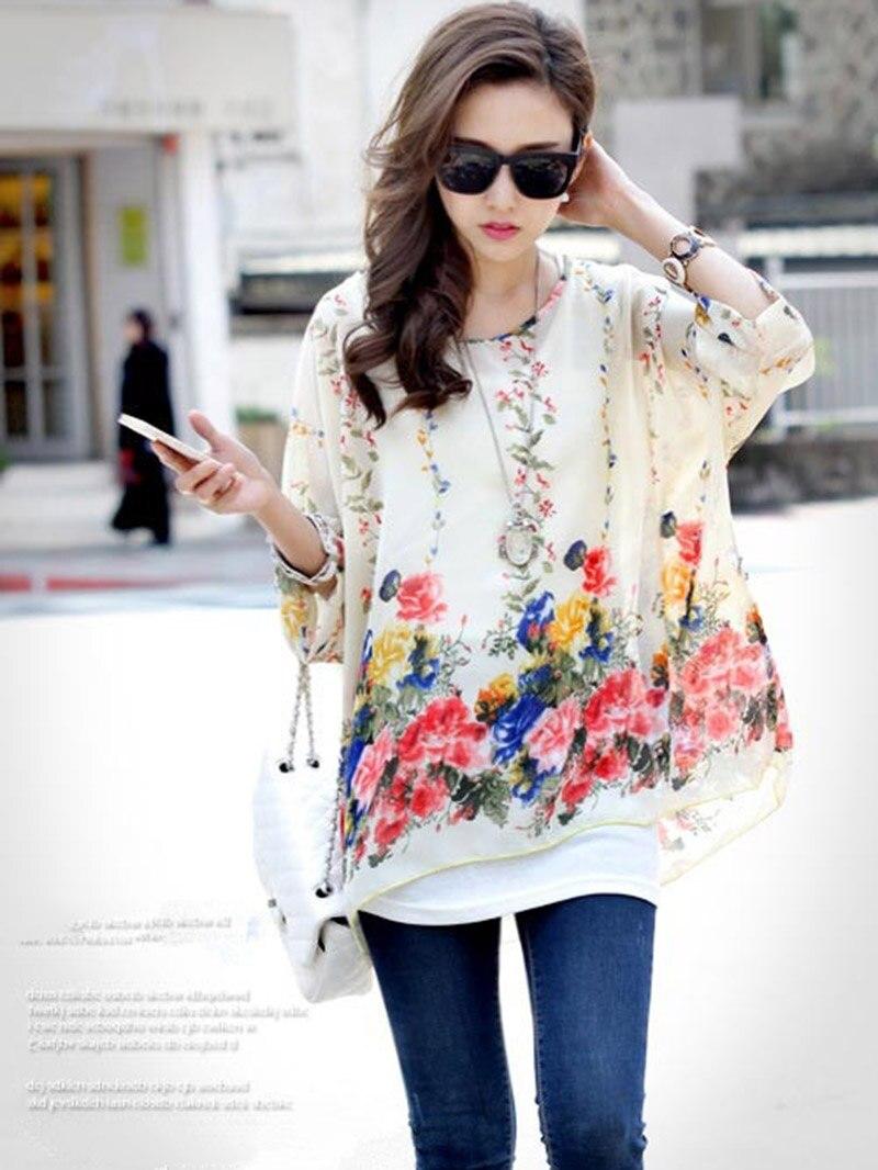 b6171c0d ... summer blusases 2016 vogue design girls blusas fashion chiffon blouses.  size: L: length 70cm, bust 80-120cm. XL: length 73cm, bust 80-135cm.  aeProduct.