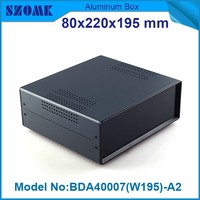 4 pcs/lot Black color iron case body with plastic abs panels which be used in led junction box 79x219x195 mm
