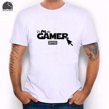 EnjoytheSpirit 2017 Male Summer Tee Shirt Letter Printing Funny Gamers T-shirt Gift for Nerds and Geek Short Sleeve Men T Shirt