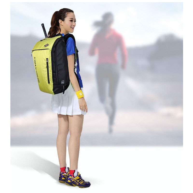 2016 אופנה מחבטי בדמינטון תיק מחבטי טניס שקיות 15.6 אינץ מחשב נייד תיקי גב המחברת התיק גברים, נשים, ספורט כושר התרמיל