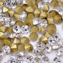 SS22 Pointed Clear Crystals Glass Rhinestones Pointback Cabochons Strass  Chaton Crystal Stones For Clothing Dress Jewelry 7d0931f30c44