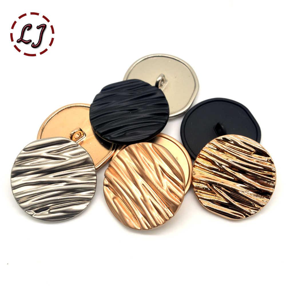 10 Stks/partij Nieuwe Mode Decoratieve Knoppen Hoge Kwaliteit Metalen Naaien Knoppen Voor Vrouwen Shirt Pak Overjas Accessoire Ambachten Diy