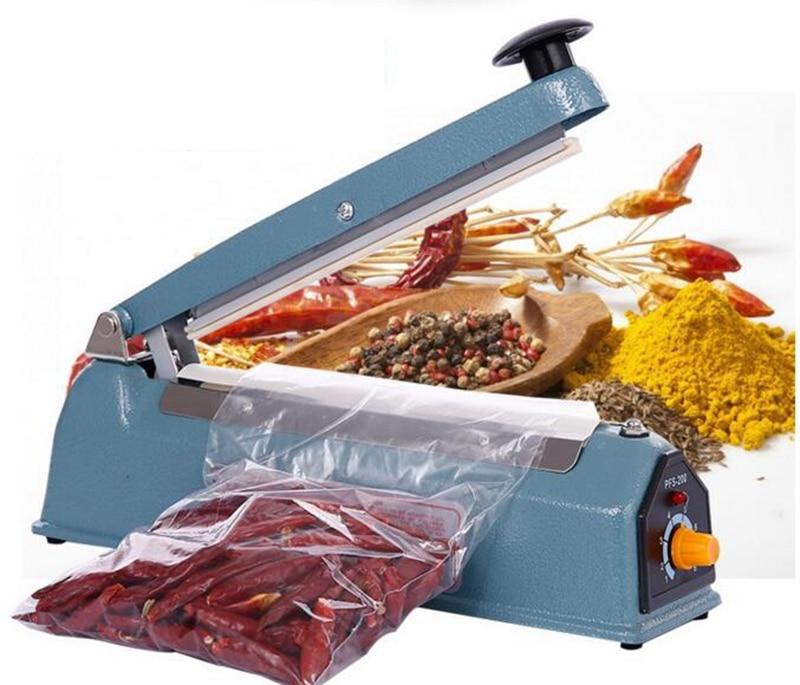 Jnj My Store >> Hand Sealer AC 220V Hand pressure heat sealing machine household manual plastic food packaging ...