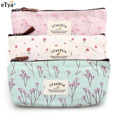 Fashion Women Cosmetic Bags Fresh Cute Canvas Multifunction Floral  Makeup Organizer Bag Lady Toiletry Travel Bags
