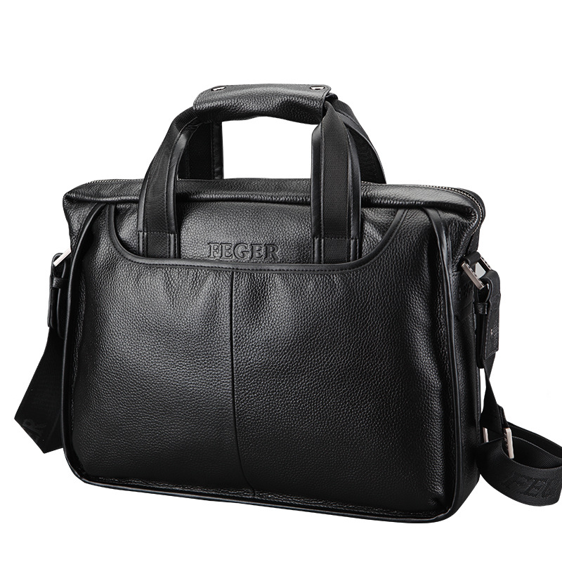 New Luxury 100% Cow Genuine Leather Business Men's Briefcase Male Shoulder Bag Real Leather Men Messenger Bag Tote Computer Bag