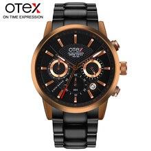 Marca de lujo relojes hombres de Negocios clásicos cuarzo wirst mens kol saati impermeable 30 M # OTEX erkek X1029