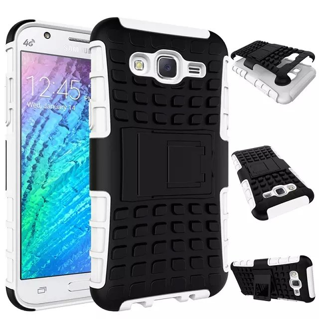 buy online bf9d3 07437 US $4.5 |8 Colors TPU+PC Rugged Shockproof Armor Case For Samsung Galaxy J5  Hybrid Case Heavy Duty Kickstand Cover-in Fitted Cases from Cellphones & ...