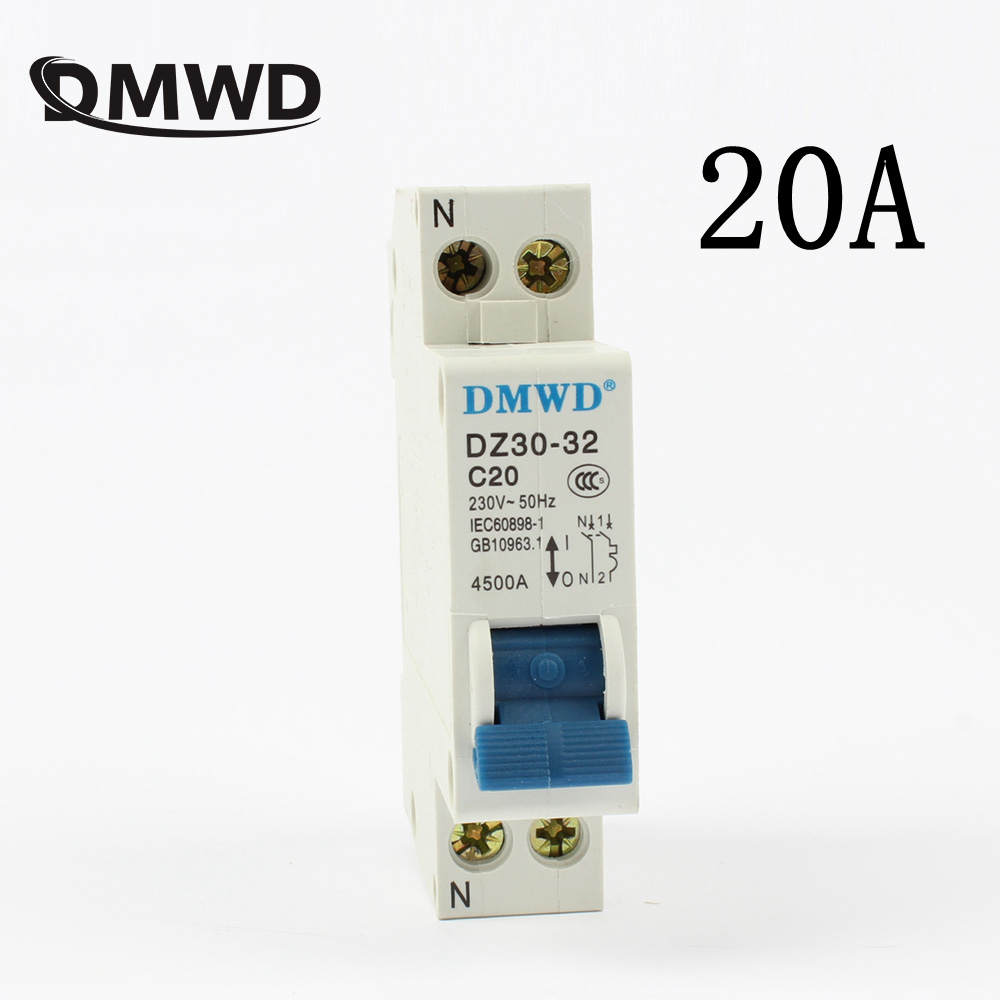 Mini Circuit breaker DPN DZ30-32 1P+N 10A 16A 20A 25A 32A 220V 230V 50HZ 60HZ Circuit Breaker DIN RAIL RCBO FREE SHIPPING RCCB free shipping new chint miniature circuit breaker dz267 32 1p n c6 6a home circuit breaker circuit protector switch