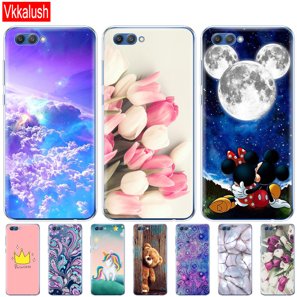 <font><b>Silicon</b></font> <font><b>Case</b></font> For Huawei <font><b>Honor</b></font> V10 VIEW <font><b>10</b></font> Soft TPU Back Phone Cover For Huawei <font><b>Honor</b></font> <font><b>10</b></font> <font><b>Case</b></font> Etui Protective Printing Coque image