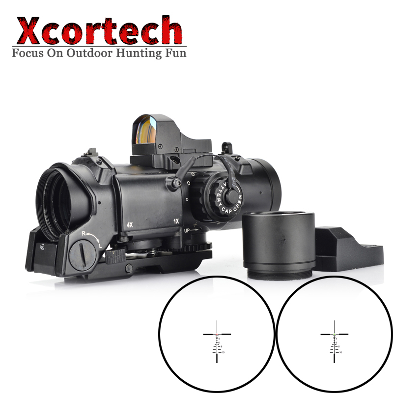 Tactical Rifle Scope DR Quick Detachable 1X-4X Adjustable Dual Role Sight Airsoft Scopes Magnifier Scope For Hunting