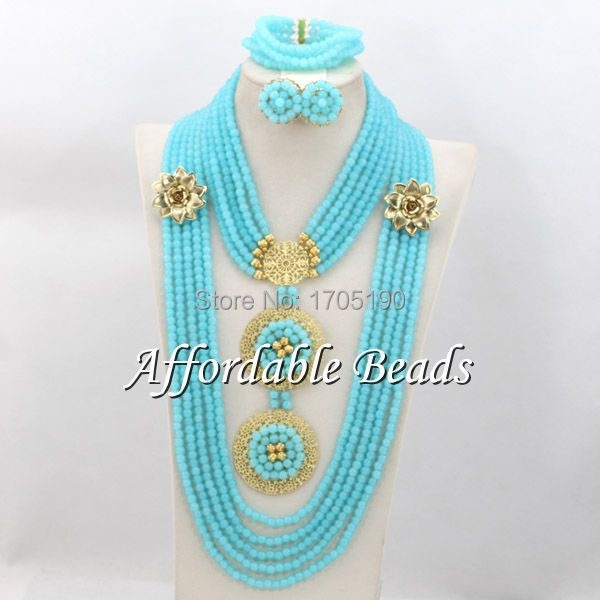 Fashional African Beaded Jewelry Nice Costume African Jewelry Sets Wholesale ABW081