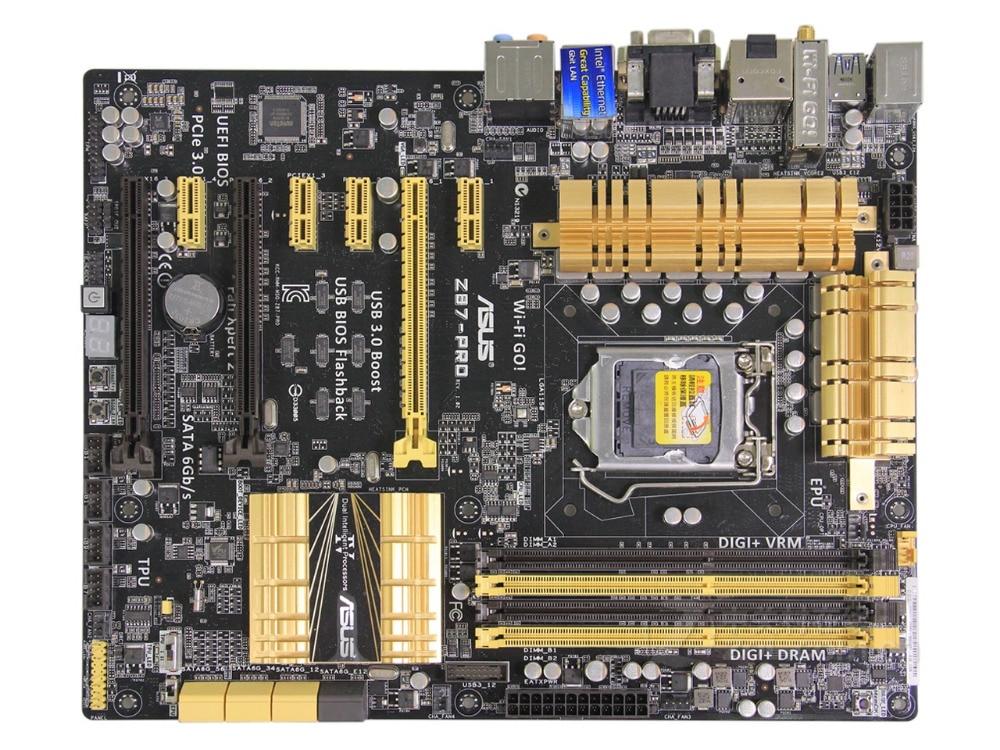 original motherboard ASUS Z87-PRO DDR3 LGA 1150 USB2.0 USB3.0 for I3 I5 I7 CPU 32GB Z87 Desktop motherboard Free shipping original z87 c 1150 motherboard z87 motherboard
