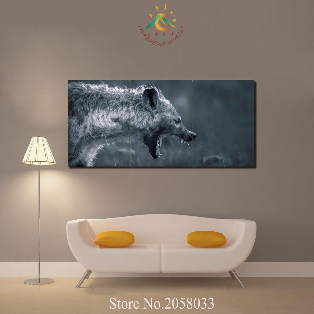 Printing Canvas Us 11 21 37 Off 3 4 5 Pieces Abstract Hunger Wolf Painting Wall Art Pictures Canvas Painting Printing Canvas Painting Hd Painting Wall Picture In