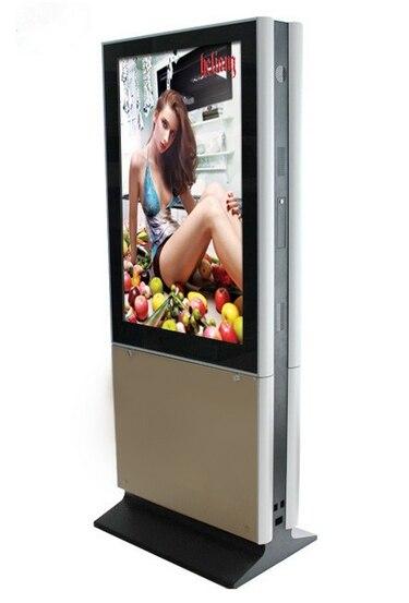 Totem numérique d'écrans de télévision de publicité d'affichage à cristaux liquides de WIFI avec l'affichage de moniteur de télévision en circuit fermé d'affichage de signage de double écran