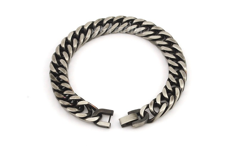 GOKADIMA 18 New Style Antique Finished Stainless Steel Chain Bracelet Men Jewelry Party Christmas Gift 3