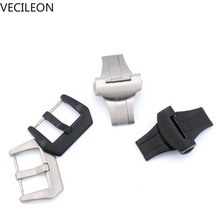 цены Newest Fashion Sales 20mm 22mm 24mm Screw-in Buckle Watch Band Strap Brushed Clasp For Panerai Replacement