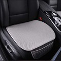 Single Piece General Summer Breathable Car Cushion Pad Linen Cloth Backless Car Seat Cover Mat Automotive Supplies