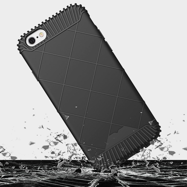 Top sale! Newest Luxury Shockproof soft TPU Plaid Armor phone cases for iphone 5 5s/6 6s/6Plus 6sPlus phone protection shell