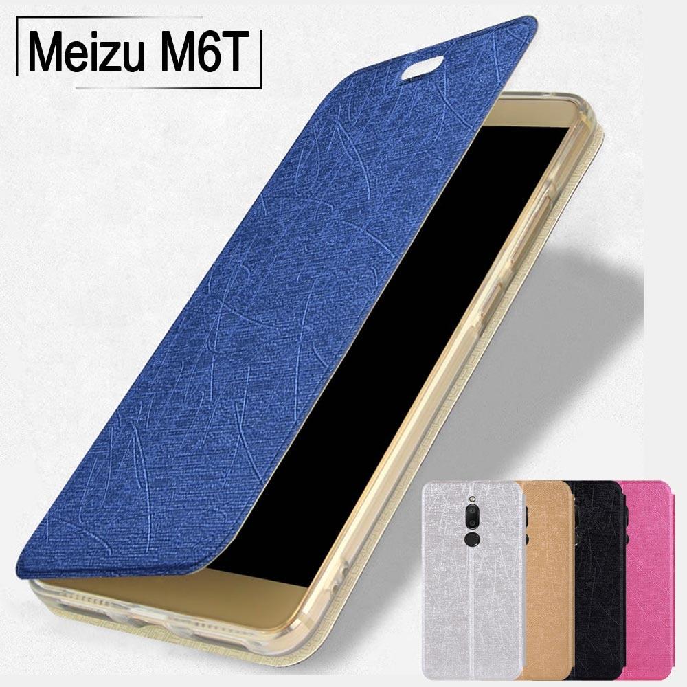 Meizu M6T case global Meizu M6T 6T cover Slim PU leather soft TPU stand flip case for Meizu MX6 M6 Note M6S case meilan 6T cover
