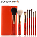 ZOREYA Marca 8 UNIDS Portátil Cosméticos de Maquillaje Herramienta de Oro Al Virola Componen Cepillos pincel Envío Gratis
