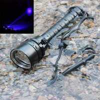 Underwater 50m UV Diving Flashlight Waterproof 3x XPE LED Purple Light Scuba Diving Lamp Ultraviolet Dive Torch by 18650 Battery