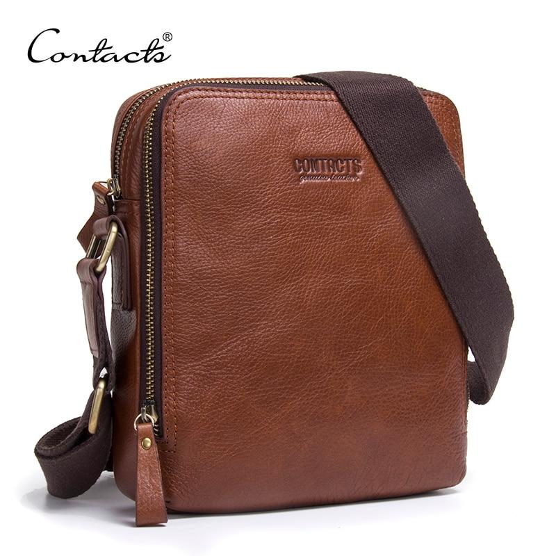 Fashion New Men Bags Men Shoulder Bag Quality Brand Design Genuine Leather Vintage Business Standard Commonly Use Messenger Bags