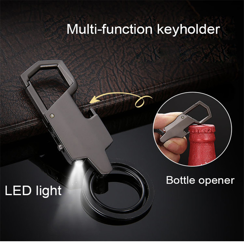 Bycobecy New LED Lighted Key Case Pendant Car Opener Ring Key Holder Metal Creative Men's Women's Custom Waist  The Housekeeper