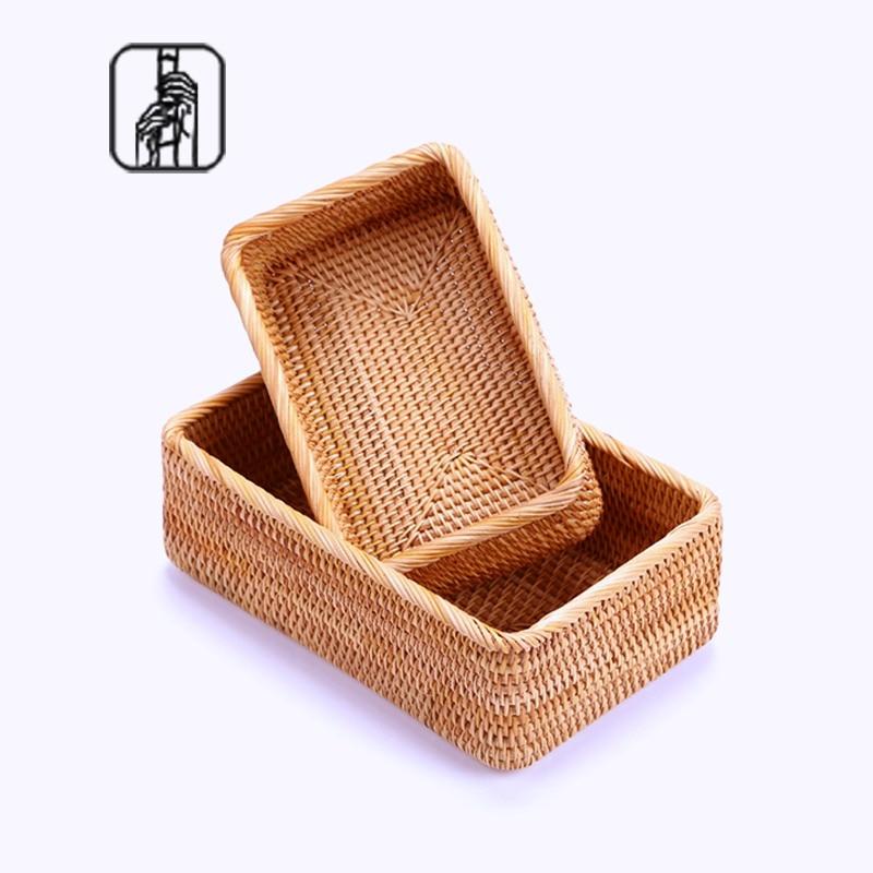 Kosmetika obdrží košík balíček pošty desktop obdrží Vietnam podzimní ratanový tkaní ovoce košík obdrží klíče