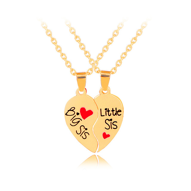 Big sister little sister necklace 2pcsset broken heart pendants big sister little sister necklace 2pcsset broken heart pendants necklaces two hearts sis necklaces mozeypictures Image collections